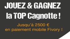 Avec TOP MUSIC et fivory gagne jusqu' à 2500 euros en bons d'achat fivory a dépenser avec ton mobile