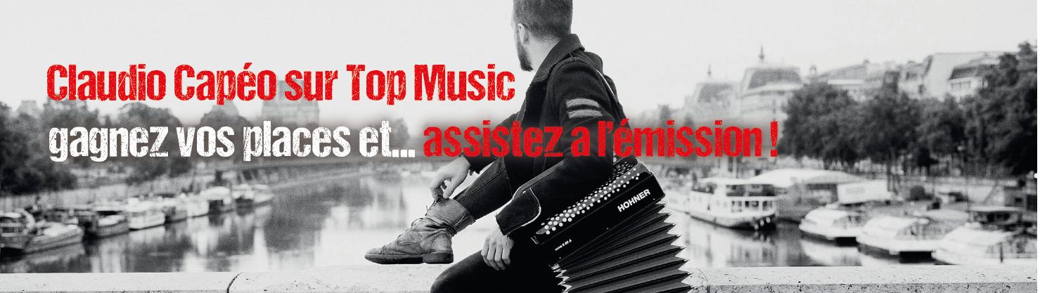 Claudio Capeo sur Top Music : gagnez vos places pour assister à l'émission spéciale du 28 novembre 2016