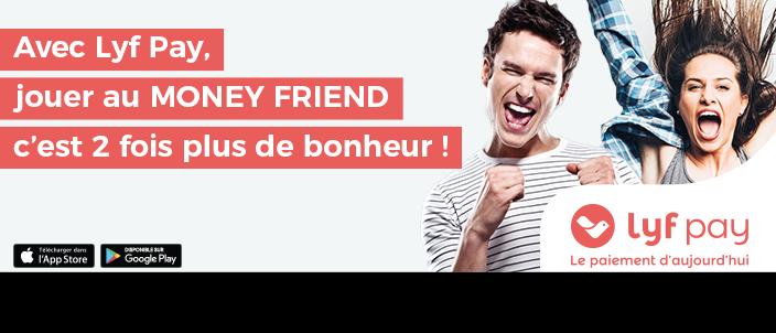Money friend Gagnez 150 € et offrez 150 € à un ami avec Top Music et Lyf Pay